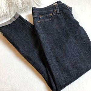 AG Stevie Roll Up Jeans 25 Dark Denim